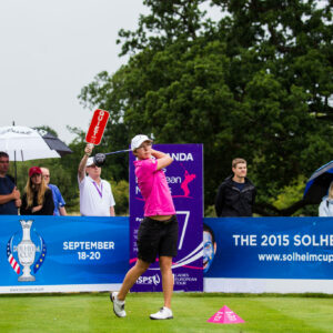 02/07/2015. Ladies European Tour 2015. ISPS HANDA Ladies European Masters, Buckinghamshire Golf Club, Denham, England. July 2-5. Ann-Kathrin Lindner of Germany during the first round. Credit: Tristan Jones